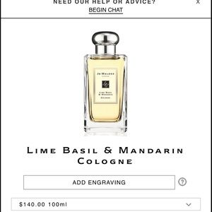 Jo Malone lime & basil 3.4 oz 100ml (new)